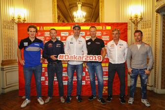 Xavier de Soultrait, Mathieu Baumel, Nani Roma, Carlos Sainz and Sébastien Loeb