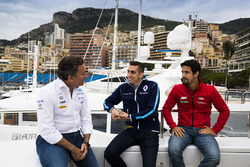 Alejandro Agag, Formel-E-Boss; Sébastien Buemi, Renault e.Dams; Lucas di Grassi, ABT Schaeffler Audi Sport