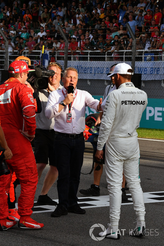 Johnny Herbert, Sky TV talks, Lewis Hamilton, Mercedes AMG F1 in parc ferme