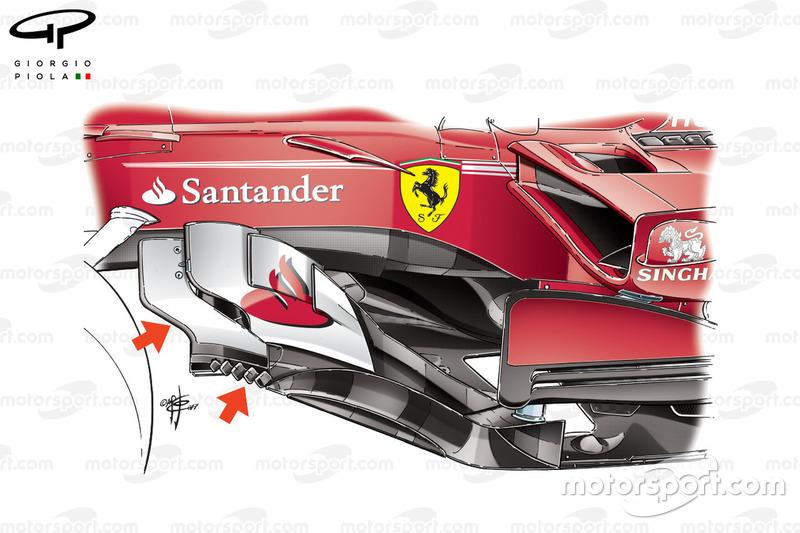Нові бічні дефлектори Ferrari SF70H, Гран Прі Малайзії