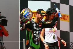 Podium : le vainqueur Kenan Sofuoglu, Kawasaki Puccetti Racing