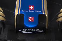 Aufkleber für die Schweiz am Sauber C36