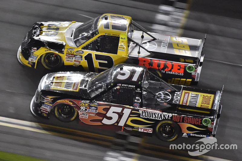 Myatt Snider, Kyle Busch Motorsports, Toyota; Cody Coughlin, ThorSport Racing, Toyota