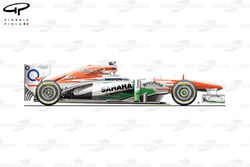 Force India VJM06 side view, British GP