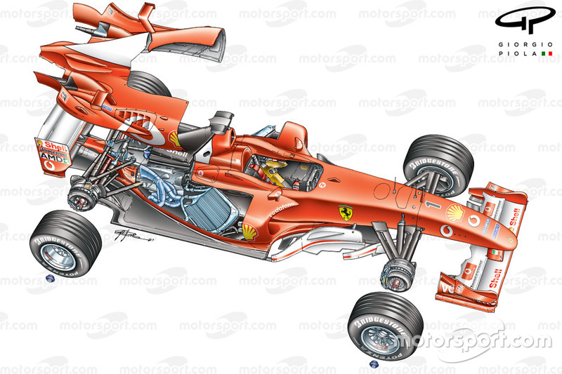 Ferrari F2003-GA exploded view