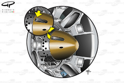 Ferrari F10 wheel retention