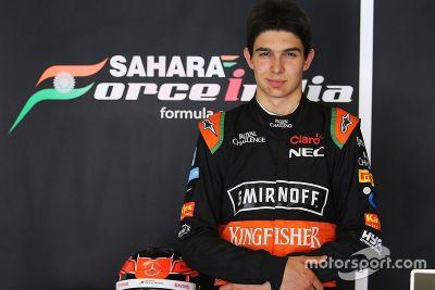 Visite d'Esteban Ocon chez Force India