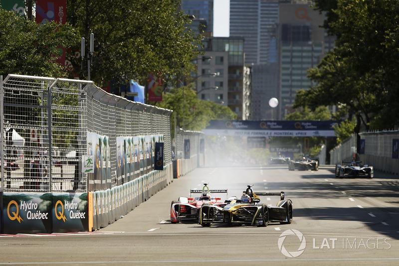Felix Rosenqvist, Mahindra Racing, batalla con Stéphane Sarrazin, Techeetah