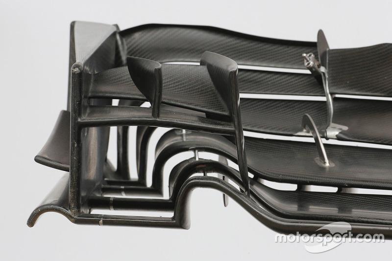 哈斯VF17赛车前翼细节图