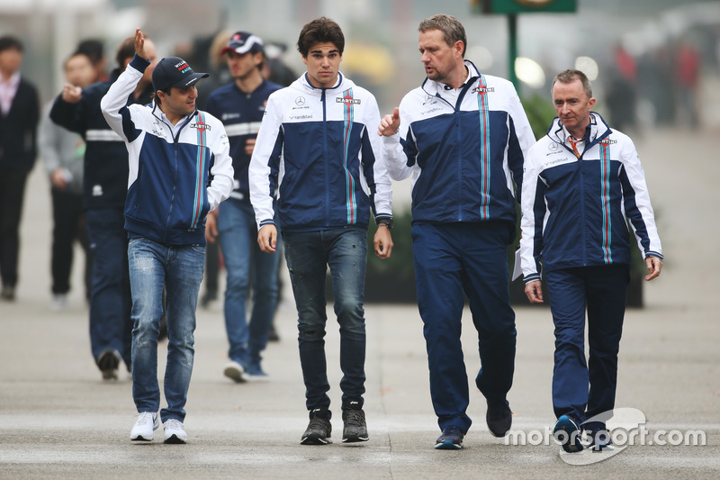 Felipe Massa, Williams, Lance Stroll, Williams, and Paddy Lowe, Williams Formula 1
