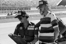Don Nichols, Shadow-Teambesitzer, mit Bert Baldwin
