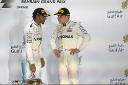 Podium: second place Lewis Hamilton, Mercedes AMG F1, third place Valtteri Bottas, Mercedes AMG F1