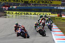 Michael van der Mark, Pata Yamaha; Alex de Angelis, Pedercini Racing