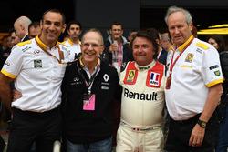 Керівник Renault Sport F1 Сіріль Абітбуль, Рене Арну, Алекс Меа, директор Renault Sport F1 Жером Столль