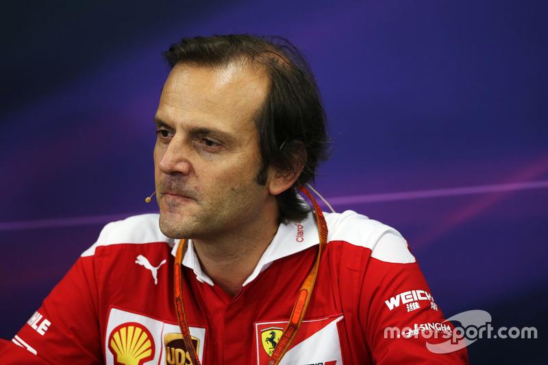 Luigi Fraboni (ITA) Ferrari Head of Engine Trackside Operations in the FIA Press Conference
