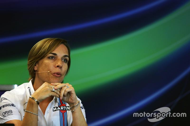 Claire Williams, Williams Deputy Team Principal in the FIA Press Conference