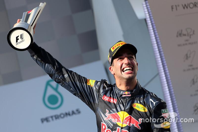 Podium: Race winner Daniel Ricciardo, Red Bull Racing