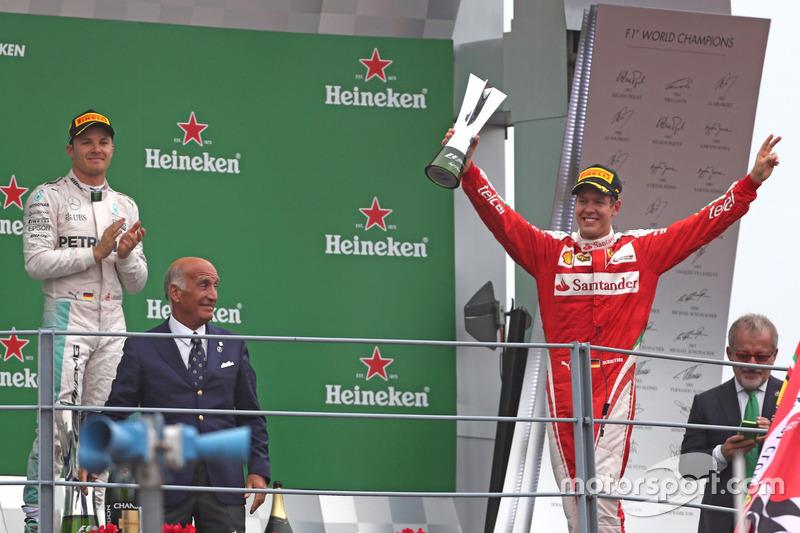 Podium: Sebastian Vettel, Scuderia Ferrari