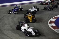 Фелипе Масса, Williams FW38 Mercedes, Кевин Магнуссен, Renault Sport F1 Team RS16, Валттери Боттас,