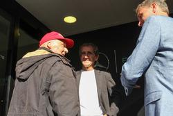 Niki Lauda, Mercedes Presidente no ejecutivo y Alain Prost, David Coulthard, Red Bull Racing y Scude
