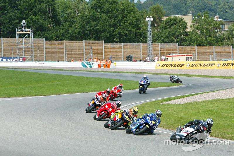 Alex Barros, West Honda Pons, in Führung