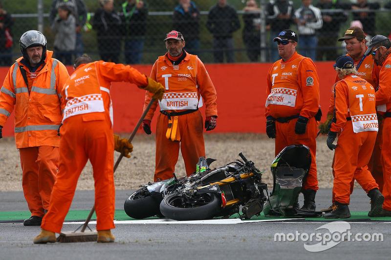 Motorrad Pol Espargaro, Tech 3 Yamaha nach dem Crash