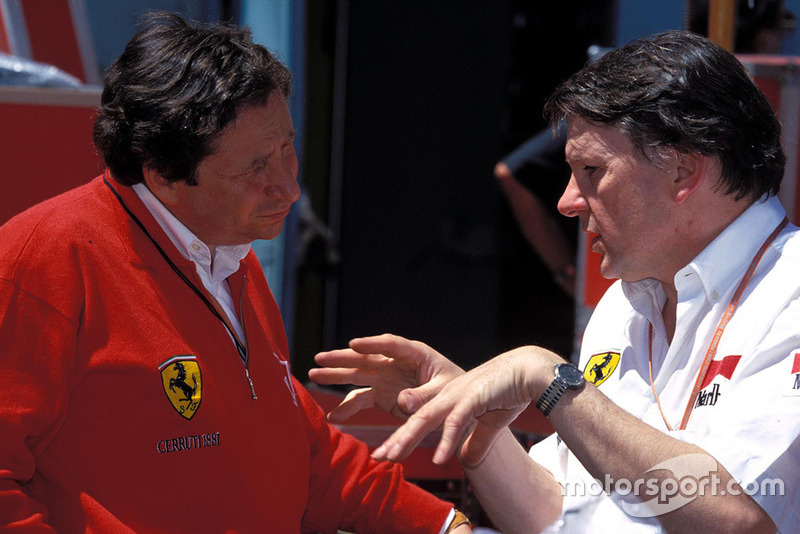 John Barnard (right) with Jean Todt