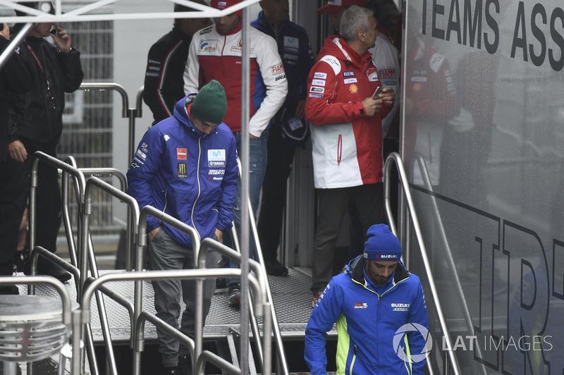 Maverick Viñales, Yamaha Factory Racing, leaving Safety commission meeting