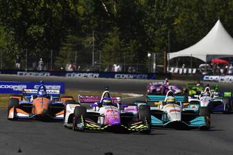 Sebastien Bourdais, Dale Coyne Racing with Vasser-Sullivan Honda, Scott Dixon, Chip Ganassi Racing Honda, Gabby Chaves, Harding Racing Chevrolet