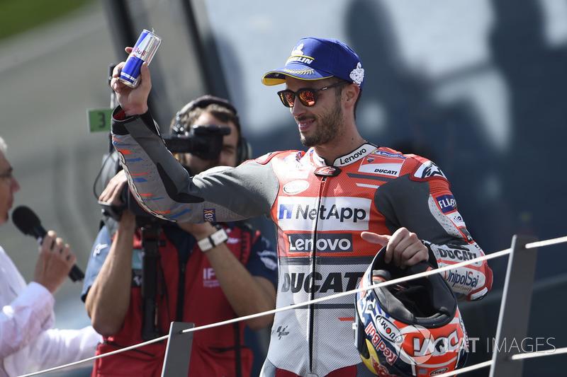 Il terzo classificato Andrea Dovizioso, Ducati Team