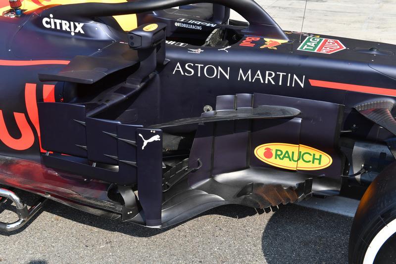 Pontones del Red Bull Racing RB14