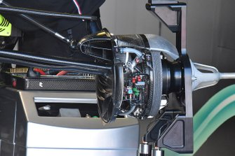 Mercedes AMG F1 W10 front suspension and brake