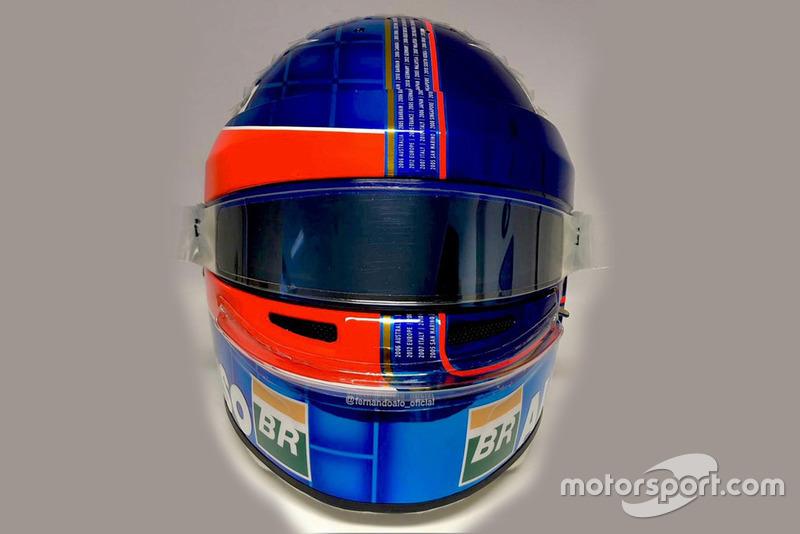 Fernando Alonso'nun kask tasarımı, McLaren