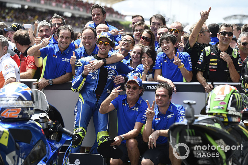 Segundo clasificado Alex Rins, Team Suzuki MotoGP