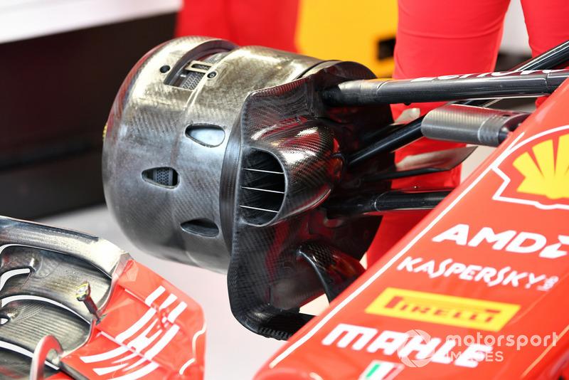 Écope de frein et moyeu avant de la Ferrari SF71H