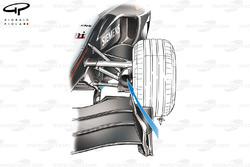 McLaren MP4-19 front wing endplate (not inwash toward brake duct, arrowed)