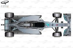 Mercedes W05 top view