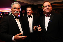 Chairman of Formula One Group Chase Carey and McLaren CEO Zak Brown