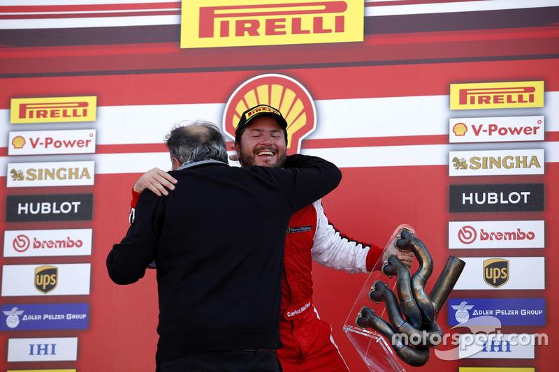 Podium: Ganador, Carlos Kauffmann, Ferrari de Fort Lauderdale