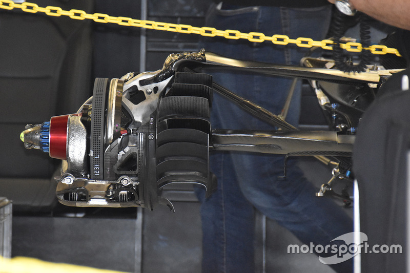 Frein arrière de la Mercedes AMG F1 W08