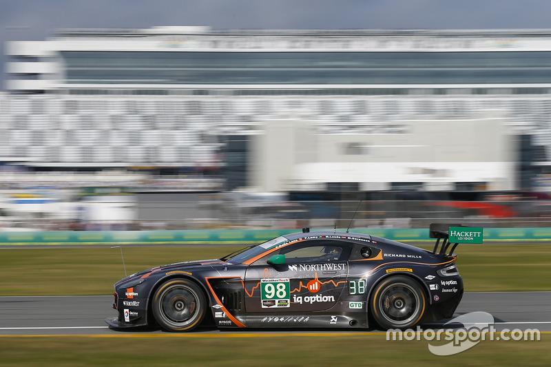 #98 Aston Martin Racing Aston Martin Vantage GT3: Paul Dalla Lana, Mathias Lauda, Pedro Lamy, Marco Sorenson