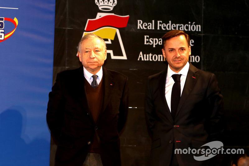 Jean Todt, presidente de la FIA, y Manuel Aviñó, presidente de la RFEdA