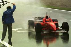 Checkered flag for Michael Schumacher, Ferrari