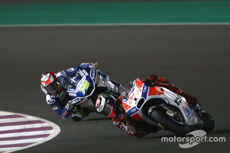 Jorge Lorenzo, Ducati Team; Loris Baz, Avintia Racing