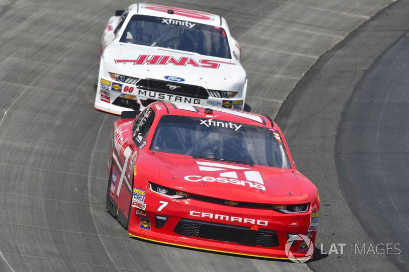 Justin Allgaier, JR Motorsports, Chevrolet; Cole Custer, Stewart-Haas Racing, Ford