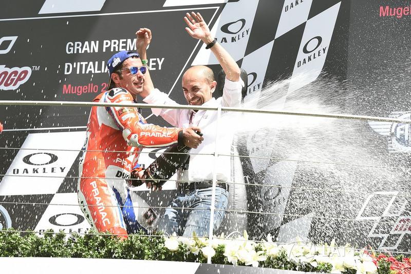 Selebrasi podium Petrucci dan CEO Ducati di Mugello