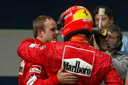 Rubens Barrichello and Michael Schumacher, Ferrari
