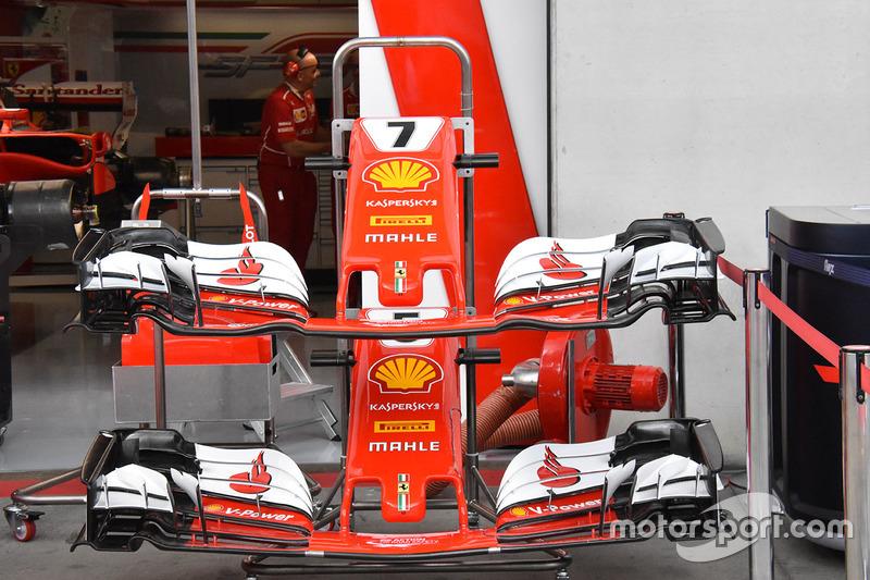 Варианты передних крыльев Ferrari SF70H