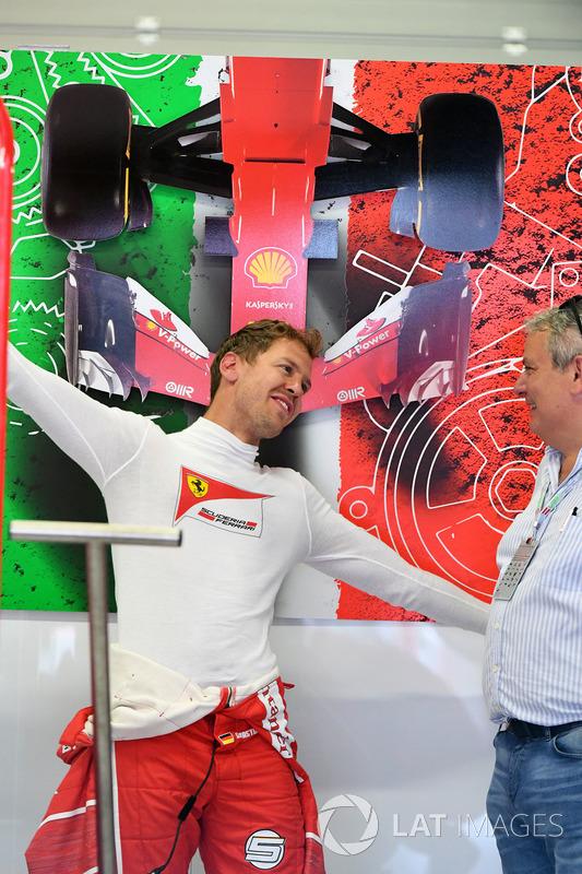Sebastian Vettel, Ferrari und Giorgio Ascanelli