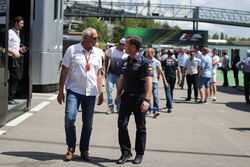 Dietrich Mateschitz, CEO and Founder of Red Bull and Christian Horner, Red Bull Racing Team Principa